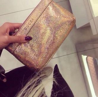 bag wallet gucci gold sparkle glitter