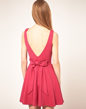 Asos skater dress with low bow back ($20