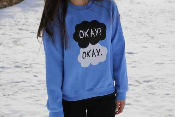 shirt the fault in our stars hazel grace augustus waters the fault in our stars john green sweatshirt crewneck blue shirt hazel the fault in our stars the fault in our stars