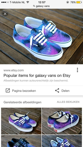 shoes vans galaxy print low top sneakers