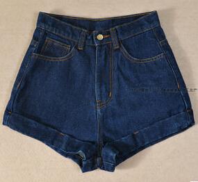Fashion 5 colors american women apparel aa vintage high waist denim shorts summer high quality 100% cotton short jeans plus size