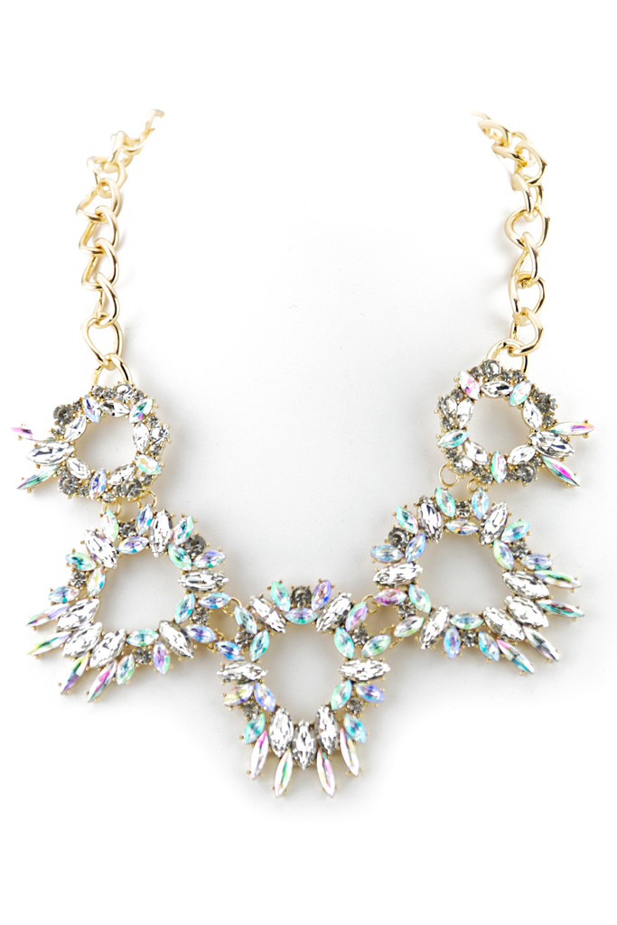 CIRCULAR DIAMOND STONE NECKLACE | Haute & Rebellious