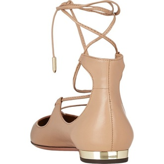 shoes nude lace up flats strappy flats ballet flats