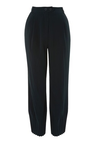 pleated navy blue pants