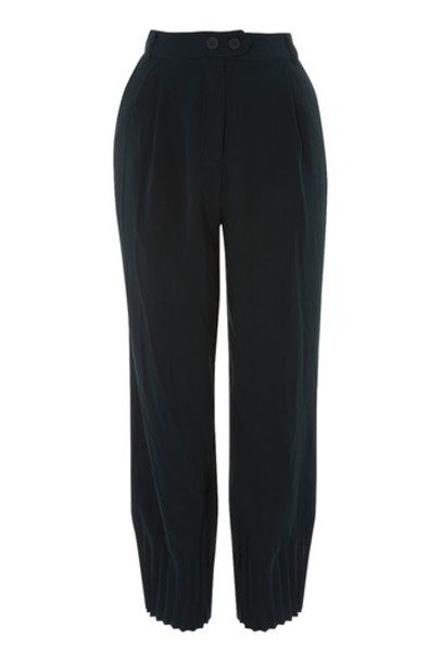Topshop pleated navy blue pants