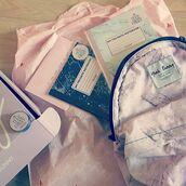 bag,yeah bunny,marble,pink,pastel,cute,backpack