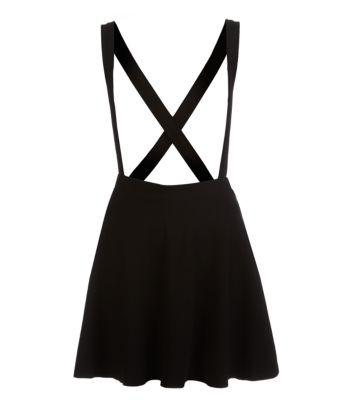 Black Braces Skater Skirt