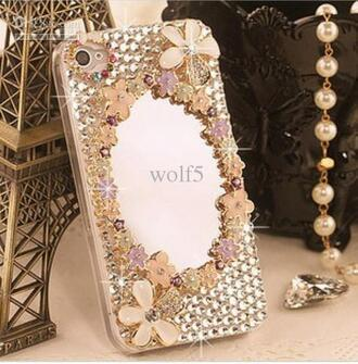phone cover 3d mirror diamind crystal phone iphone fashion luxury i phone cover
