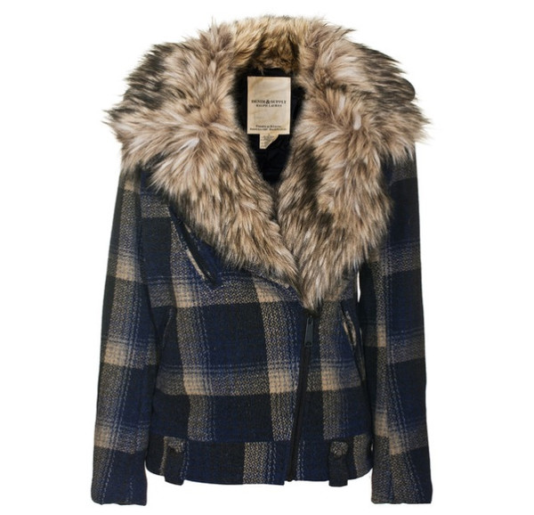 jacket fur plaid fall outfits tartan