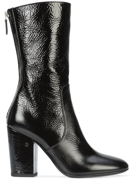 LAURENCE DACADE women boots leather black shoes