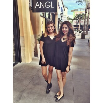 dress angl t-shirt dress black black dress instagram fashion tumblr twinning shopping comfy chic basic style