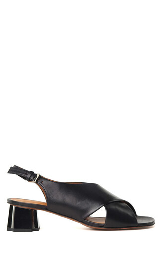 heel metal sandals leather sandals leather shoes
