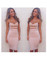 Trendy provocateur dress black pink sexy deep v hollow out party date