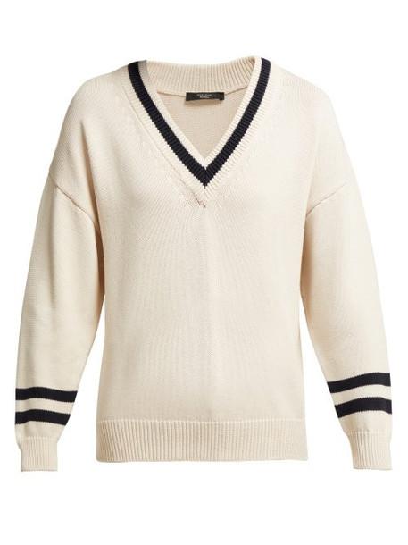 sweater v neck cream