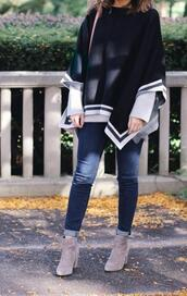 lilly's style,blogger,sweater,jeans,shoes,bag,sunglasses,ankle boots,fall outfits
