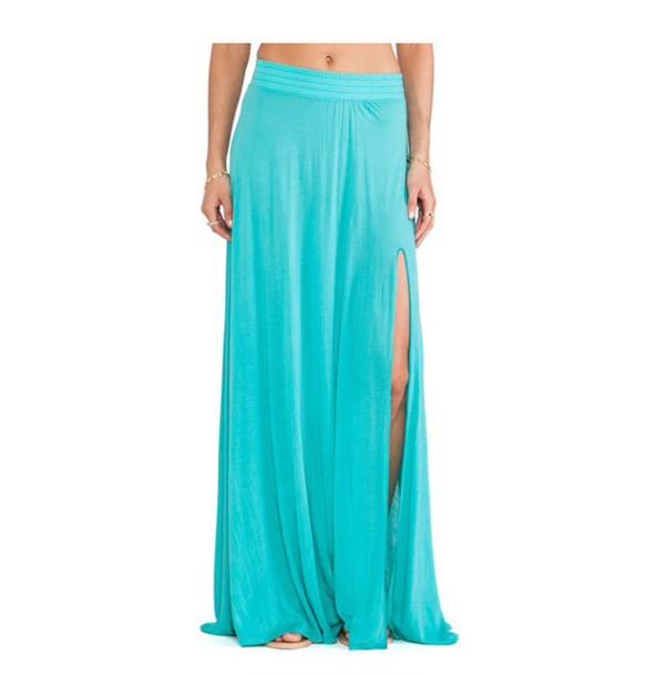 skirt long skirt with cut