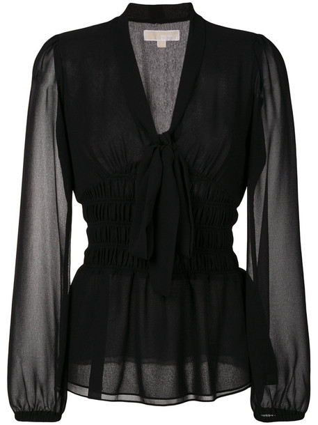 MICHAEL Michael Kors blouse bow women black top