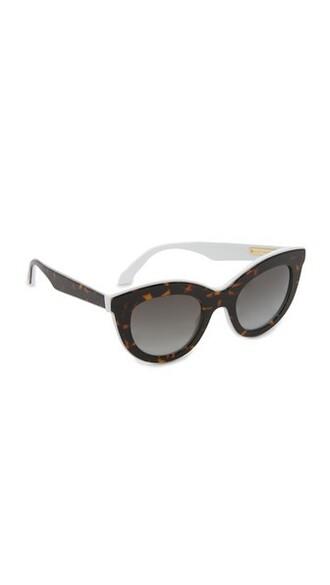 layered sunglasses white grey