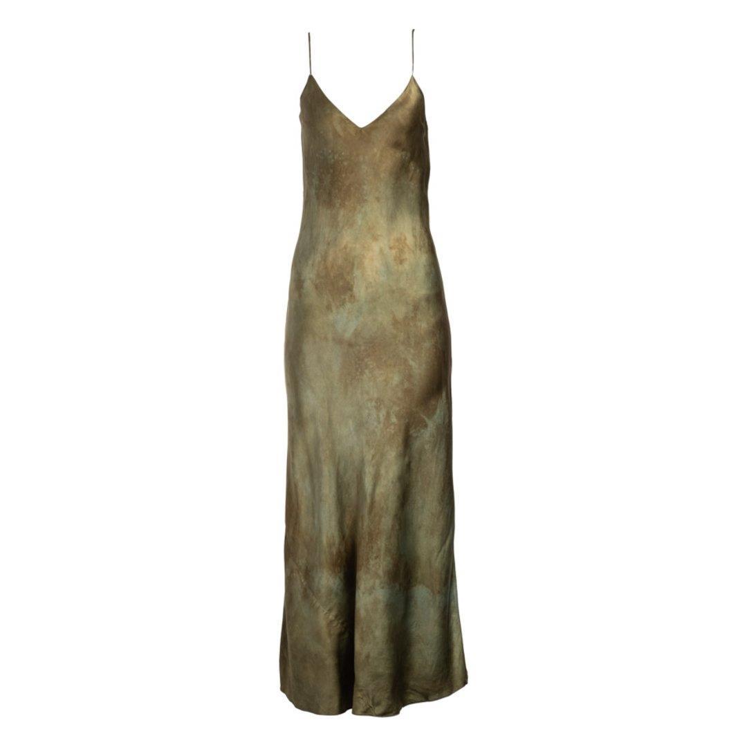 Jade Natural Hand Dyed Slip Dress