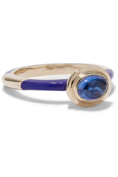 Alice Cicolini - Candy 14-karat Gold And Enamel Tanzanite Ring