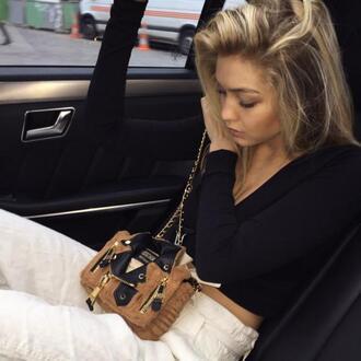 bag purse gigi hadid moschino