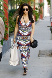 dress,kim kardashian,geometric,maxi dress