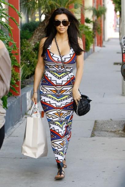 dress kim kardashian geometric maxi dress