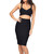 The Celine Black Two Piece Bandage Dress | Emprada