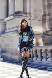 inside in inside out,jacket,top,skirt,shoes,bag,sunglasses,jewels,hat,sweater,shorts