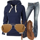 sweater,sweatshirt,sunglasses,jeans,jacket,blue,blue sweater,rayban,skinny jeans,streetwear,streetstyle,athletic,sportswear,sandals,brown sandals,shoes