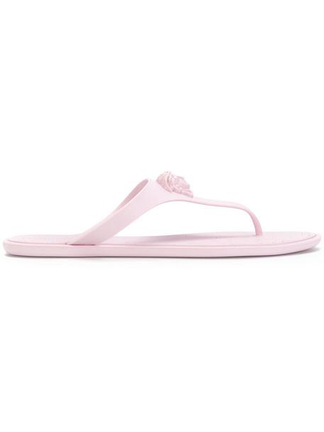 VERSACE women sandals purple pink shoes