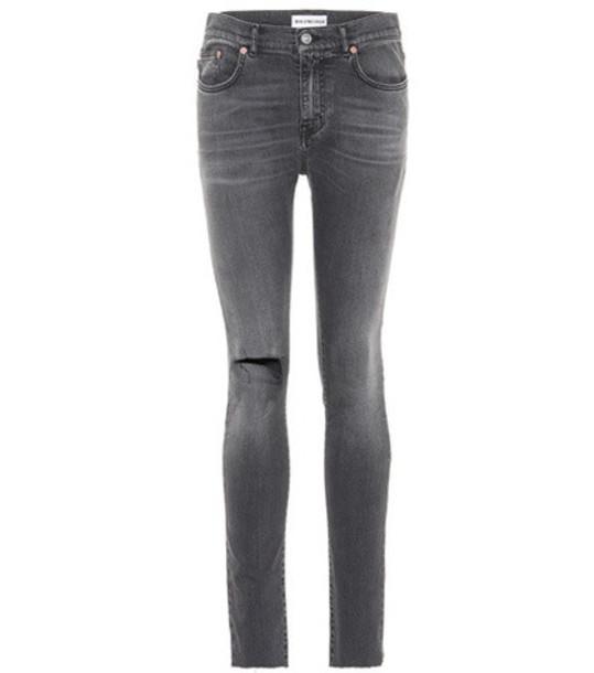 Balenciaga Distressed skinny jeans in grey
