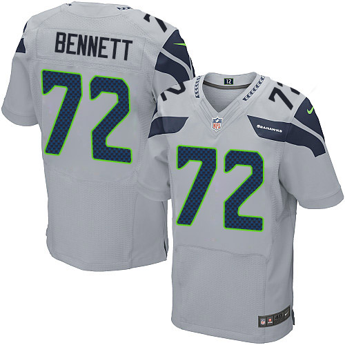 Navy Grey White Michael Bennett Elite Jersey,Nilke Seattle Seahawks Online Sale