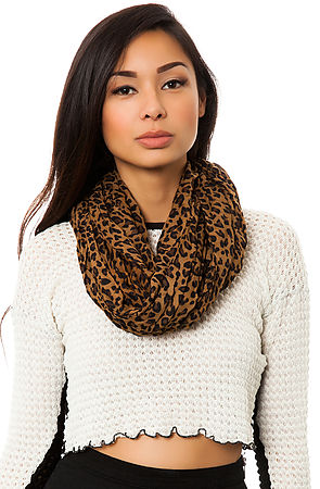 Accessory Leopard Scarf Dark Brown -  Karmaloop.com