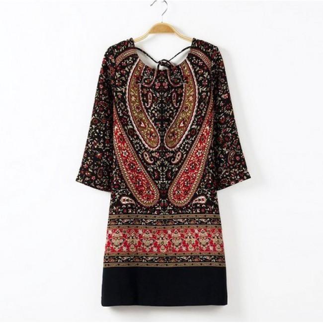 Totem Print Dress