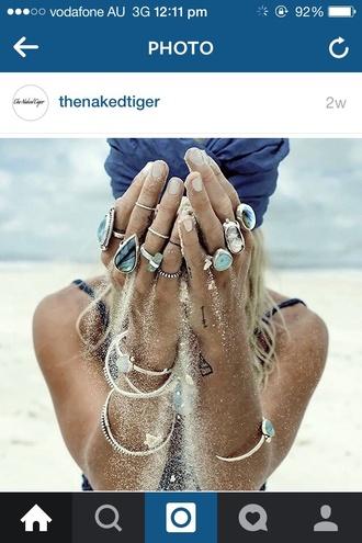 jewels gemstone blue indie bracelets silver ring silver ring with gemstone silver jewelry ring jewelry