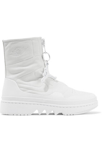 high sneakers leather white off-white shoes