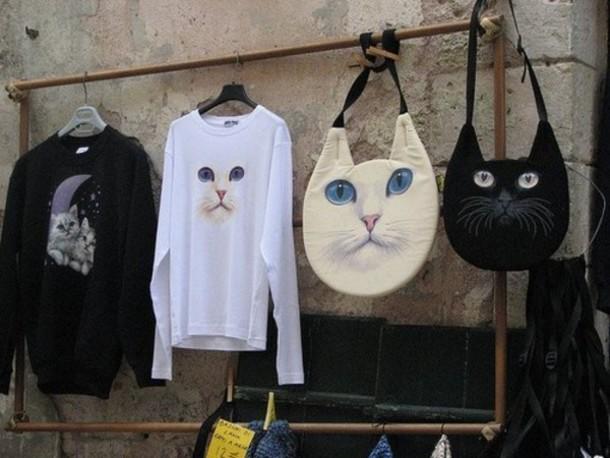 bag the black bag cats