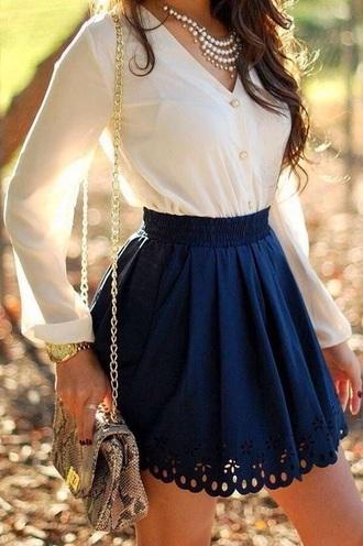 skirt dark blue skirt blue dark blue