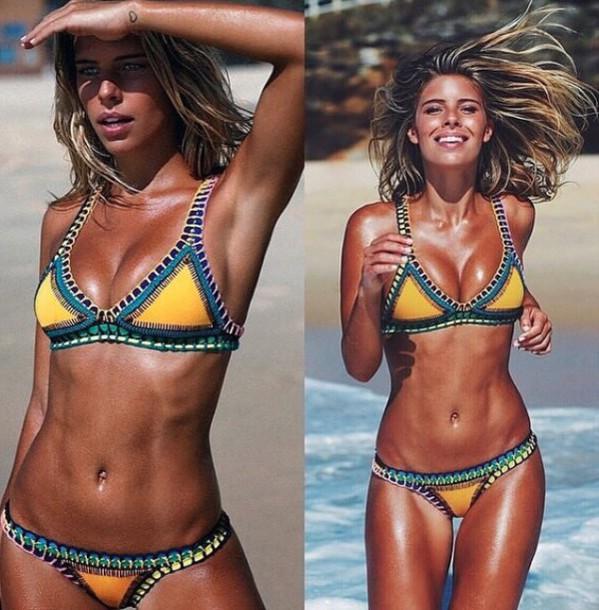 ... multicolor boho bohemian bohemian bikini crochet bikini knitted bikini