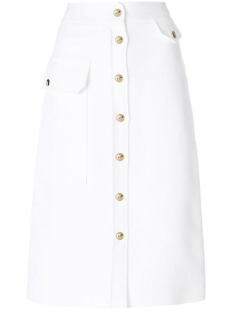 Emilio Pucci skirt midi skirt women midi white cotton