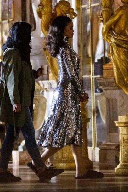 dress sequins sequin dress rihanna
