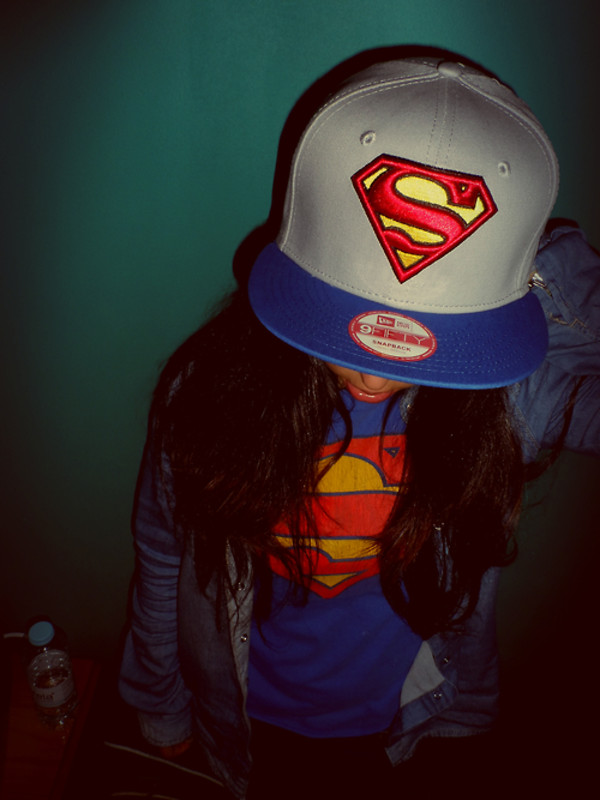hat red grey blue yellow superman snapback sweater
