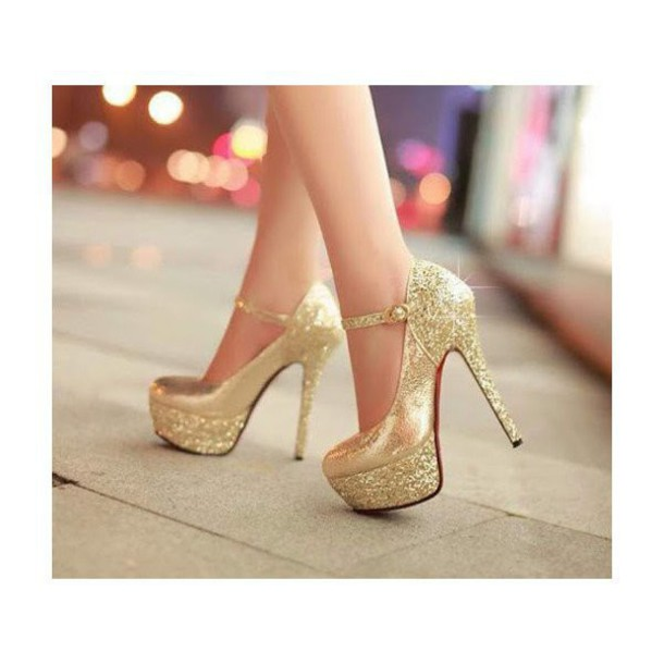 09bbf34e0c0e shoes gold sexy sexy shoes gold shoes heels high heels glitter ankle strap  heels ankle strap