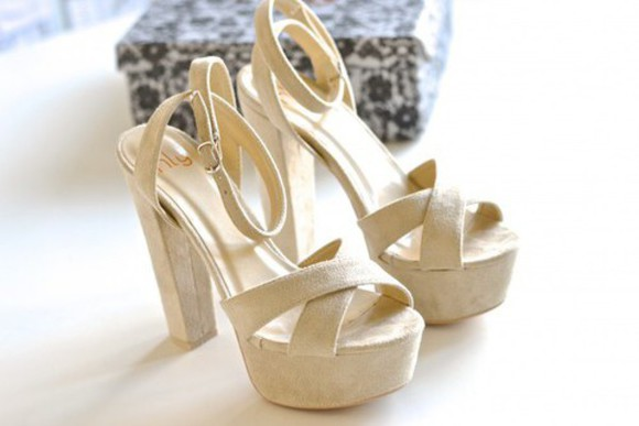 beige shoes high heels