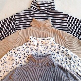 shirt mockneck cute sweaters sweater polo neck floral jumper top high neck pattern art hipster boho patterned sweater ribbed t art hoe geometric art indie indie boho