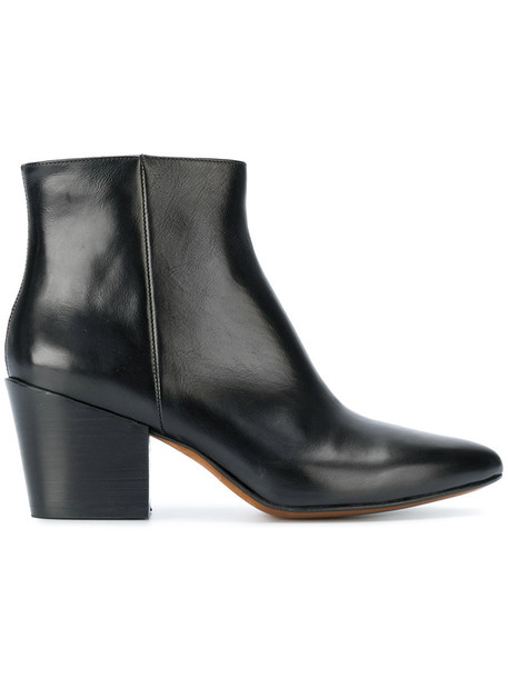 Buttero women ankle boots leather black shoes