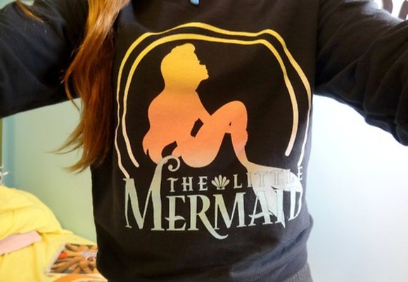 movie shirt cute rainbow sweater disney mermaid littlemermaid , crewneck