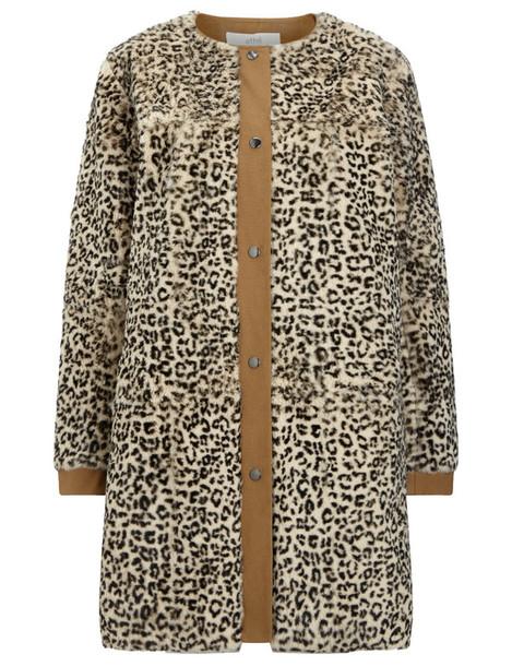 coat fur coat fur print leopard print