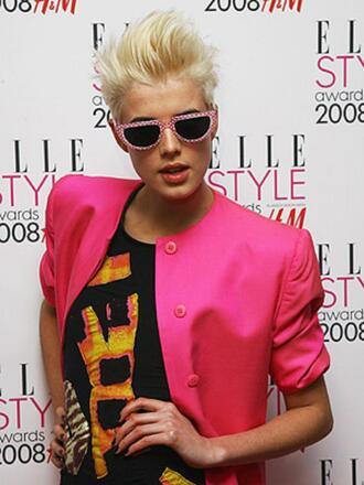 agyness dein pink jacket